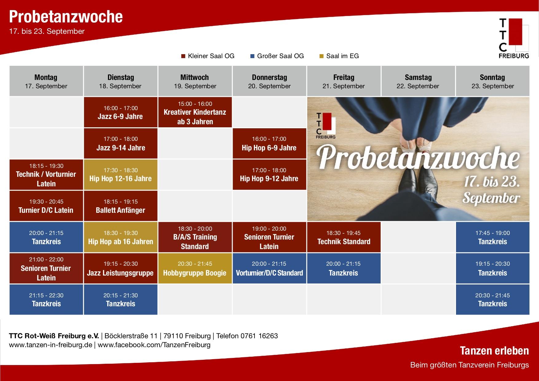 Aktuelles – TTC Rot-Weiß Freiburg e.V. – Tanzen in Freiburg